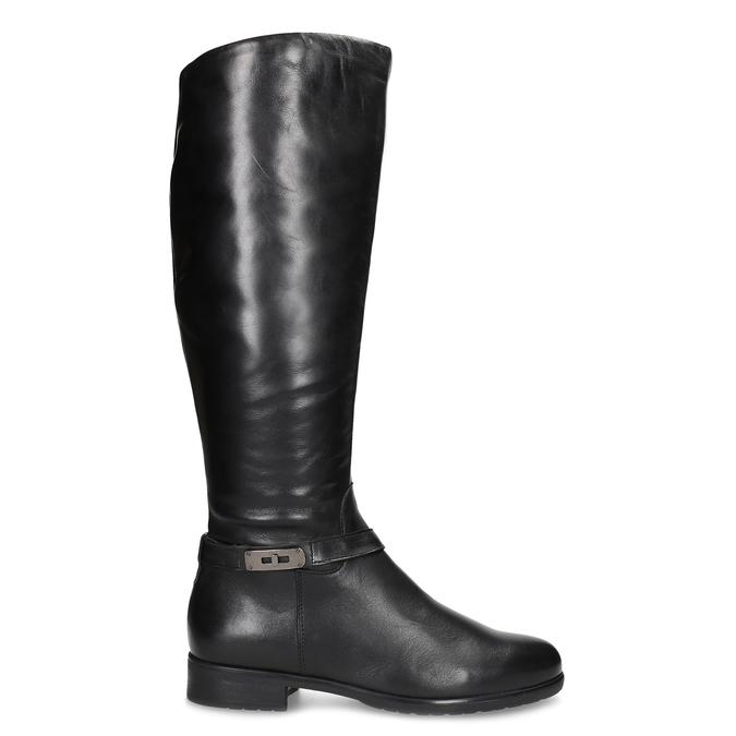 Kožené černé dámské kozačky bata, černá, 594-6676 - 19