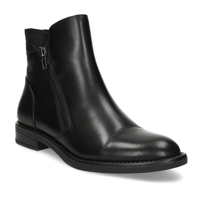 Kožená dámská kotníčková obuv bata, černá, 594-6711 - 13