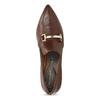 Hnědé kožené lodičky s kovovou přezkou rockport, hnědá, 716-3085 - 17