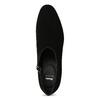 Dámská kožená kotníčková obuv se cvoky bata, černá, 723-6661 - 17