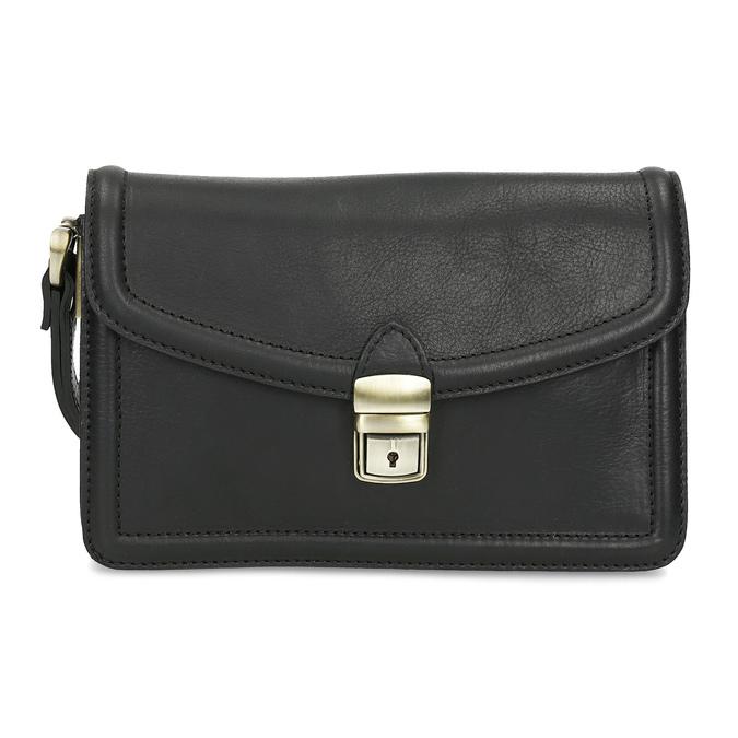 Černá pánská kožená taška do ruky bata, černá, 964-6315 - 26