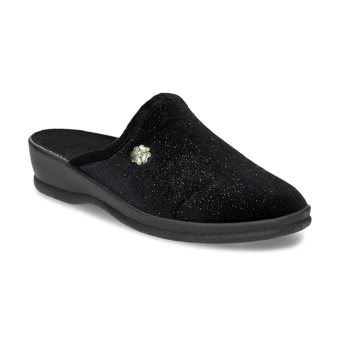 Dámské domácí nazouváky černé bata, černá, 579-6631 - 13