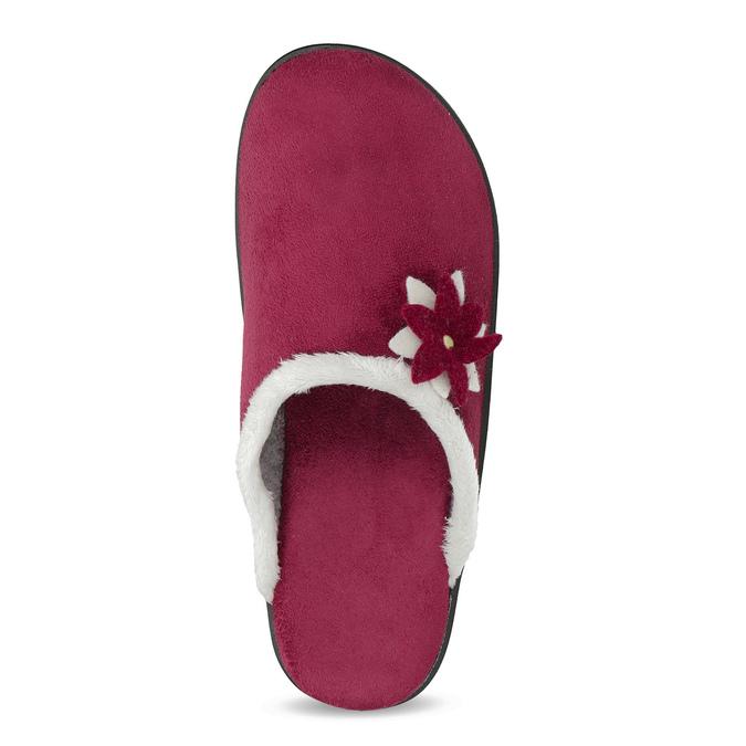 Dámské zateplené nazouváky červené bata, červená, 579-5632 - 17