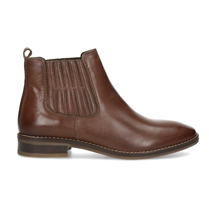Kožená dámská obuv v Chelsea stylu bata, hnědá, 594-4682 - 19