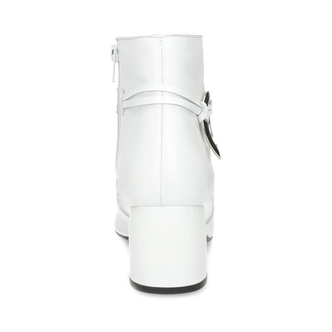 Bílá kožená kotníčková obuv s přezkou bata, bílá, 694-1673 - 15