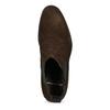 Hnědá kožená pánská Chelsea obuv vagabond, hnědá, 813-4010 - 17