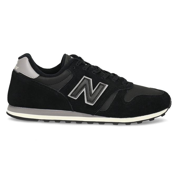 Černé pánské tenisky z broušené kůže new-balance, černá, 803-6137 - 19