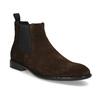 Hnědá kožená pánská Chelsea obuv vagabond, hnědá, 813-4010 - 13