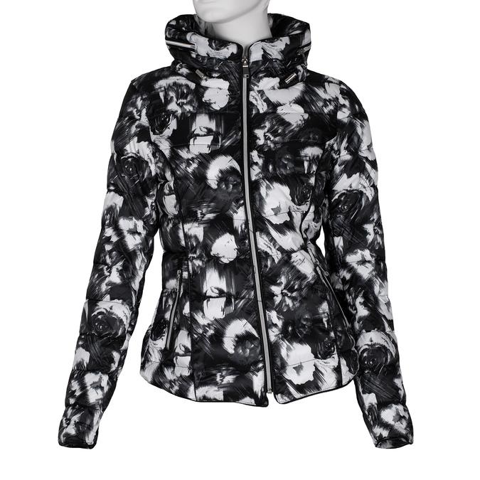Černo-bílá dámská prošívaná bunda bata, černá, 979-6311 - 13