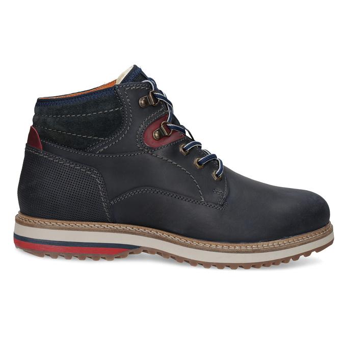 Kožená kotníková pánská zimní obuv bata, modrá, 896-9716 - 19