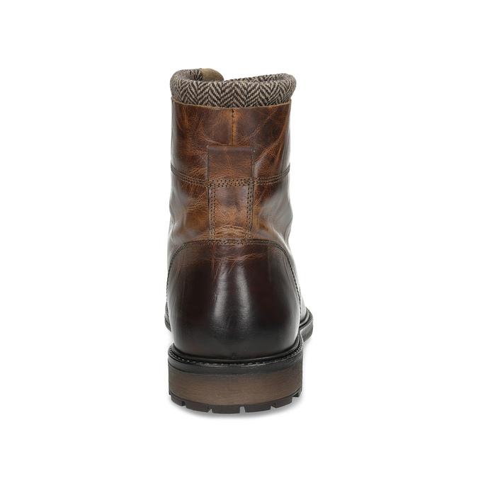 Kožená zimní kotníčková obuv pánská bata, hnědá, 896-4716 - 15