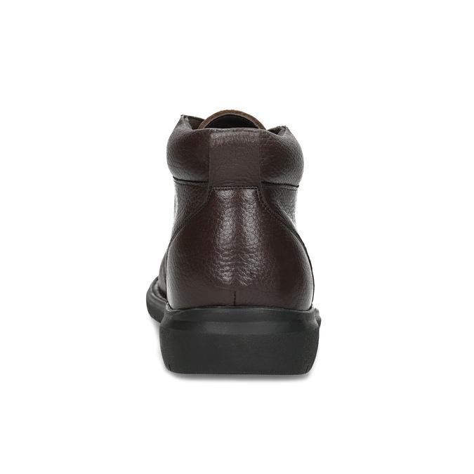 Kožená pánská kotníčková obuv comfit, hnědá, 896-4701 - 15