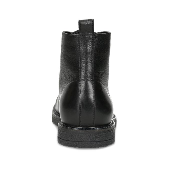 Černá kožená kotníčková pánská obuv bata, černá, 894-6721 - 15