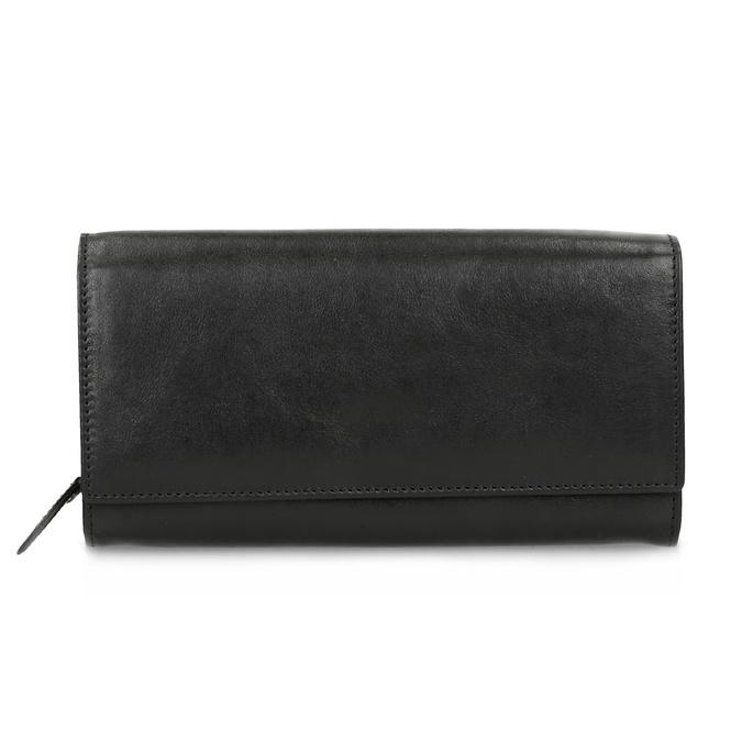 Černá dámská kožená peněženka bata, černá, 944-6216 - 26