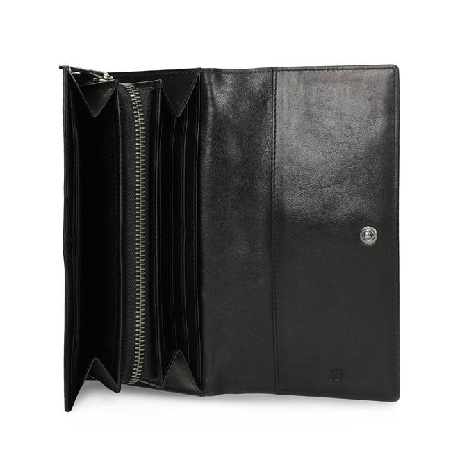 Černá dámská kožená peněženka bata, černá, 944-6216 - 15