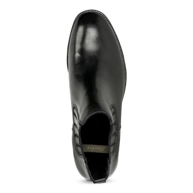 Dámská kožená Chelsea obuv s kamínky bata, černá, 594-6682 - 17