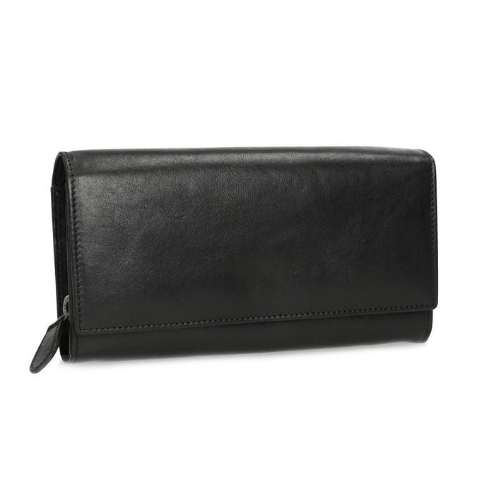 Černá dámská kožená peněženka bata, černá, 944-6216 - 13