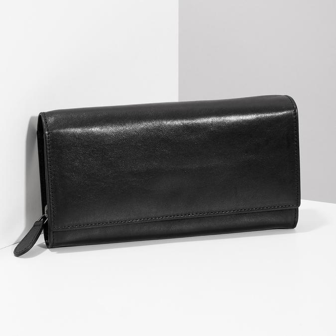 Černá dámská kožená peněženka bata, černá, 944-6216 - 17