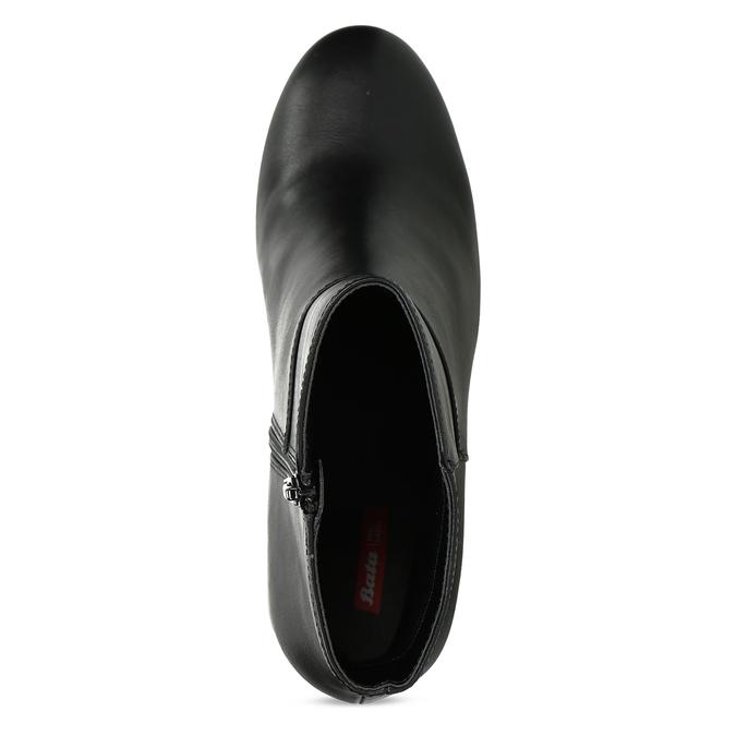 Dámské černé polokozačky na podpatku bata-red-label, černá, 791-6628 - 17