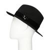 Černý klobouk se sametovou stuhou bata, černá, 909-6450 - 26
