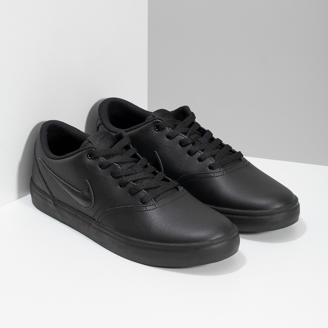 Černé pánské ležérní tenisky nike, černá, 801-6244 - 26