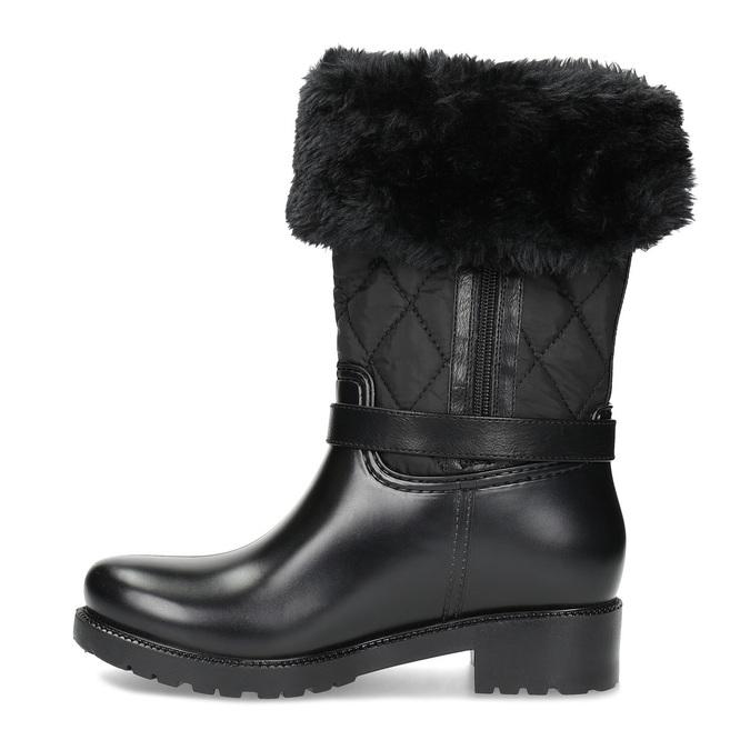 Dámské sněhule s kožíškem černé bata, černá, 592-6602 - 17