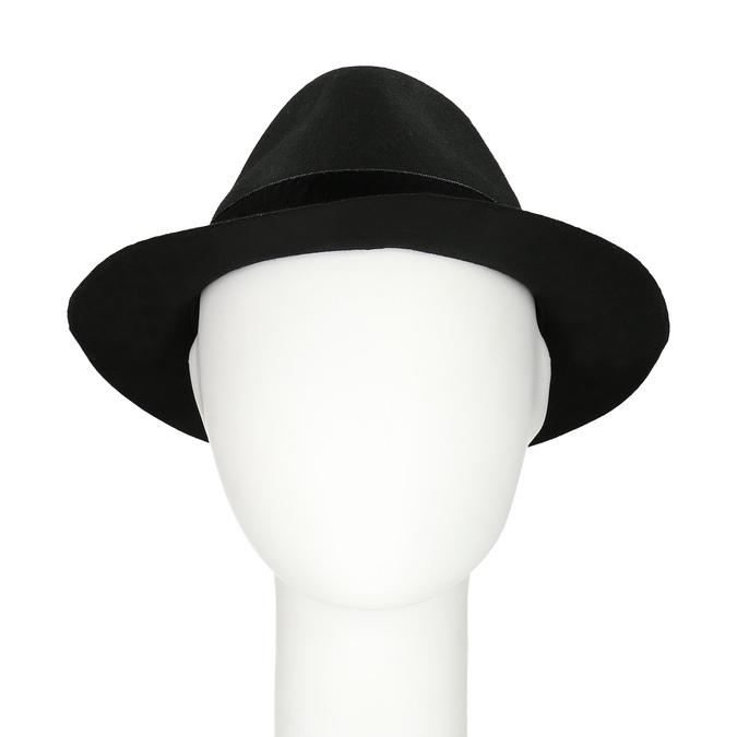 Černý klobouk se sametovou stuhou bata, černá, 909-6450 - 16