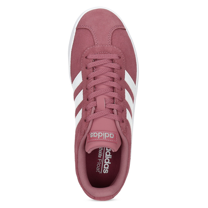 Dámské fialové kožené tenisky adidas, červená, 503-5379 - 17