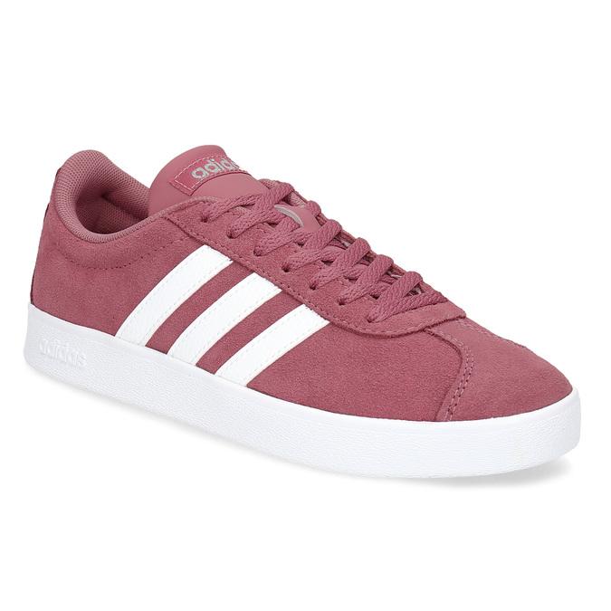 Dámské fialové kožené tenisky adidas, červená, 503-5379 - 13