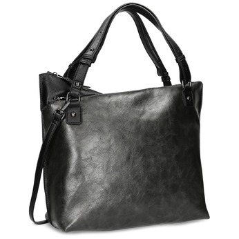Černá kabelka s metalickými odlesky bata, šedá, 961-2457 - 13