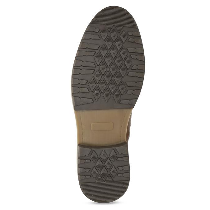 Kožená pánská kotníková obuv hnědá bata, hnědá, 896-3713 - 18