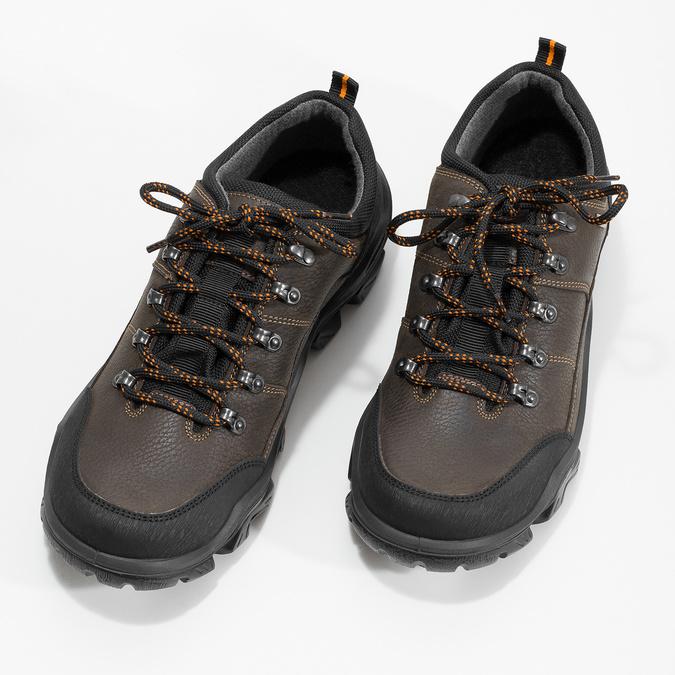 Pánská kožená obuv s masivní podešví weinbrenner, hnědá, 846-4806 - 16