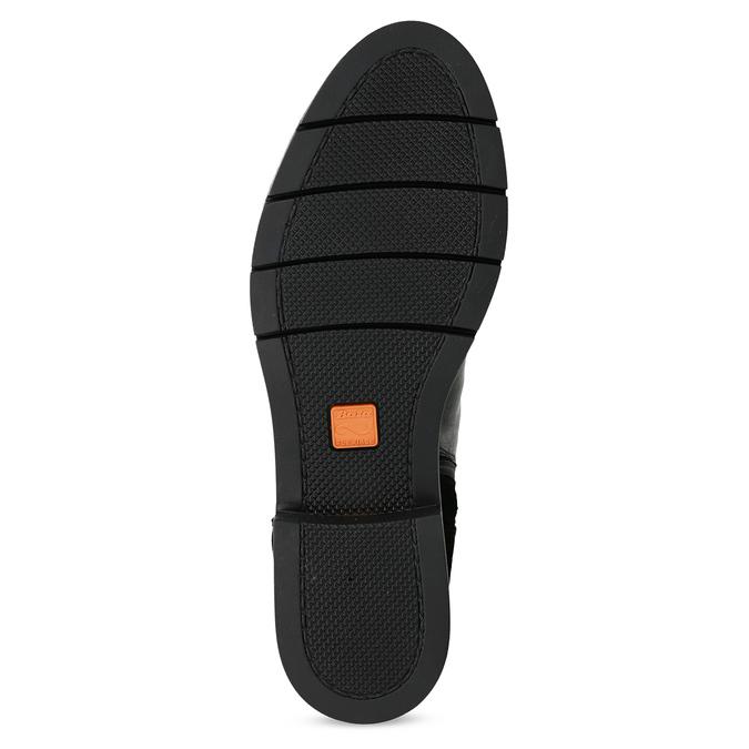 Kožená dámská kotníčková obuv se střapcem flexible, černá, 593-6195 - 18