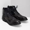 Pánská kožená kotníčková obuv bata, modrá, 896-9717 - 26