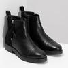 Kožená dámská kotníčková obuv se střapcem flexible, černá, 593-6195 - 26