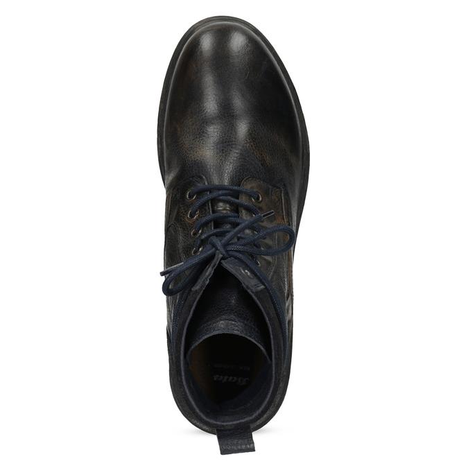 Pánská kožená kotníčková obuv bata, modrá, 896-9717 - 17