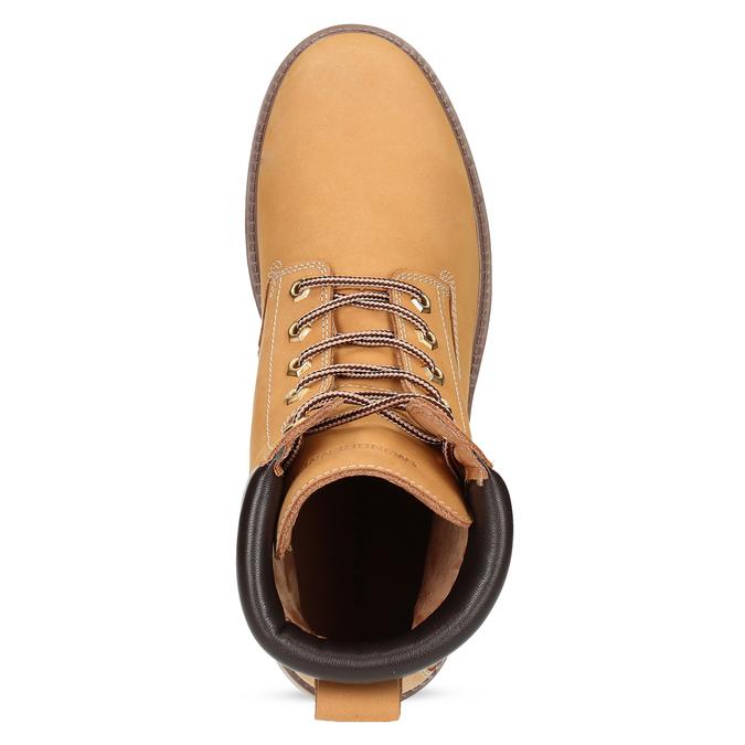 Pánská kotníčková obuv se šněrováním weinbrenner, béžová, 896-8733 - 17