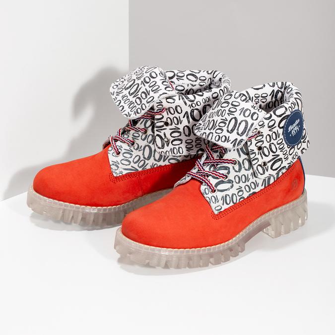 Kožená dámská kotníčková obuv z limitované kolekce, 2020-596-5760 - 16