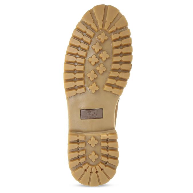 Pánská kotníčková obuv se šněrováním weinbrenner, béžová, 896-8733 - 18