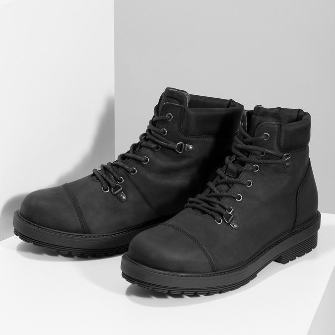 Kožená pánská kotníková obuv bata, černá, 896-6740 - 16