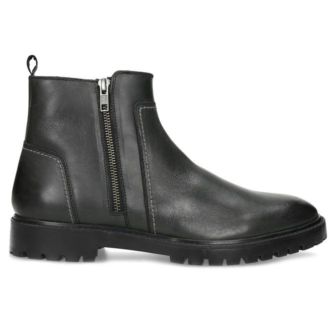 Zimní pánská kotníčková obuv černá bata, černá, 896-6724 - 19