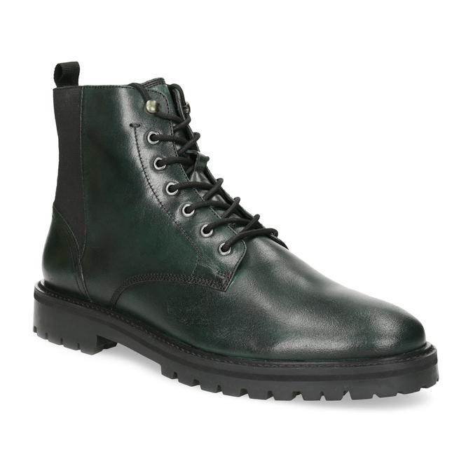 Pánská kotníčková obuv tmavě zelená bata, zelená, 896-7722 - 13