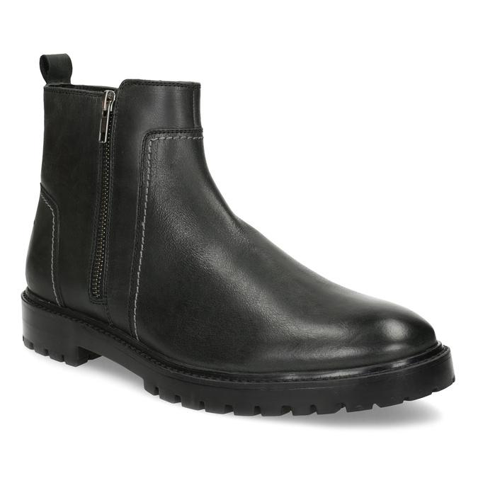 Zimní pánská kotníčková obuv černá bata, černá, 896-6724 - 13