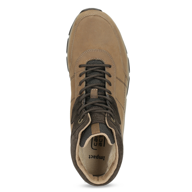 Kožená kotníčková obuv zimní camel-active, hnědá, 896-4017 - 17