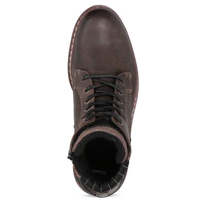 Kotníčková kožená pánská obuv bata, hnědá, 896-4666 - 17