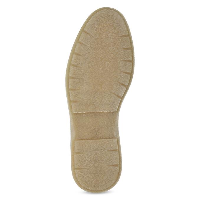 Zelená kožená kotníčková pánská obuv bata, zelená, 896-7669 - 18