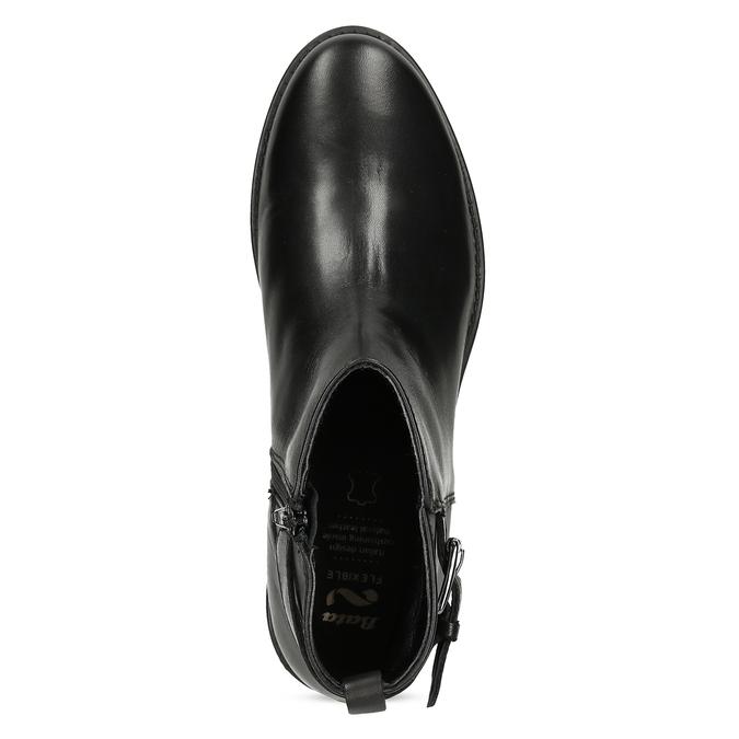 Kožená dámská kotníčková obuv černá flexible, černá, 594-6158 - 17