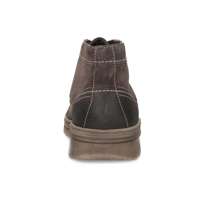 Pánská kožená kotníčková obuv weinbrenner, hnědá, 896-4108 - 15