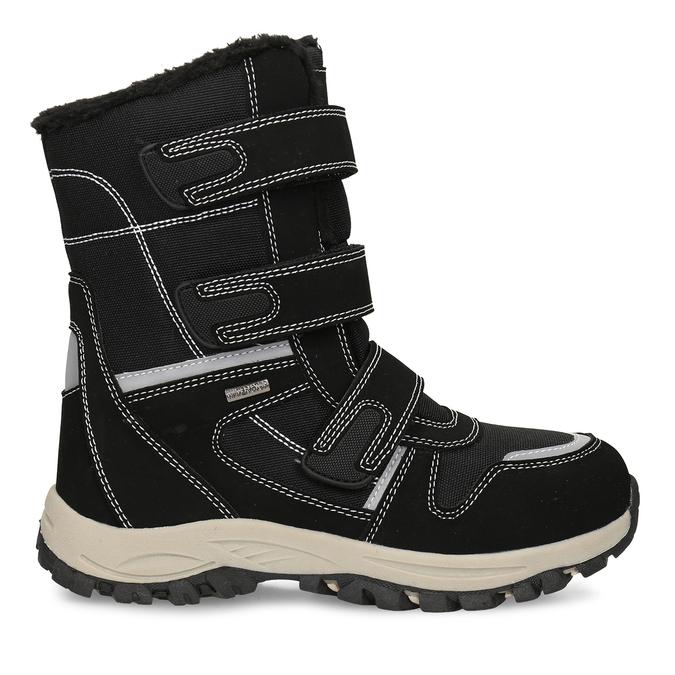 Černá dětská zimní obuv s prošitím mini-b, černá, 491-6667 - 19