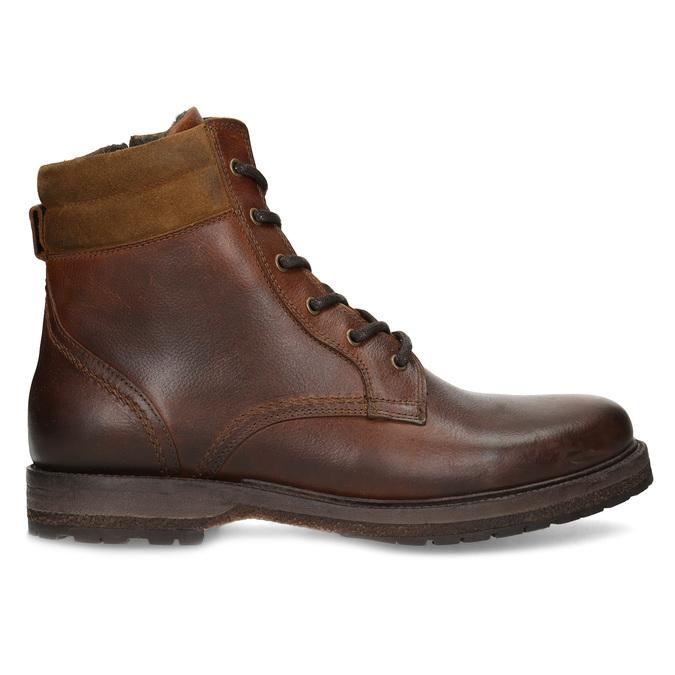 Hnědá pánská kožená zimní obuv bata, hnědá, 896-3732 - 19